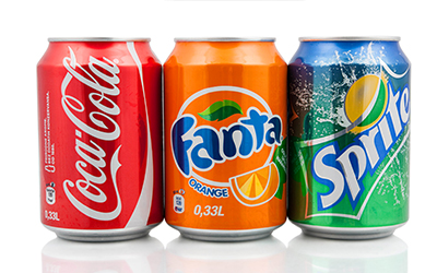 An image of soda cans